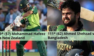 Ahmed Shehzad remains the only Pakistani batsman