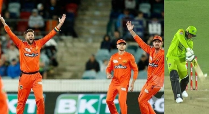 BBL, Scorchers vs Thunders: Twitter reacts aggressively on wrong umpiring call