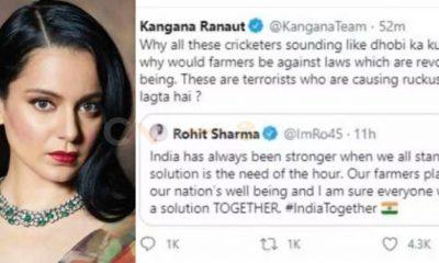 Twitter deletes against farmers Kangana Ranaut's tweet after she calls cricketers 'Dhobi ka Kutta'