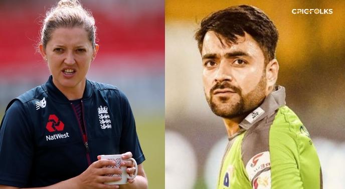 Sarah Taylor asks Rashid Khan to teach her something