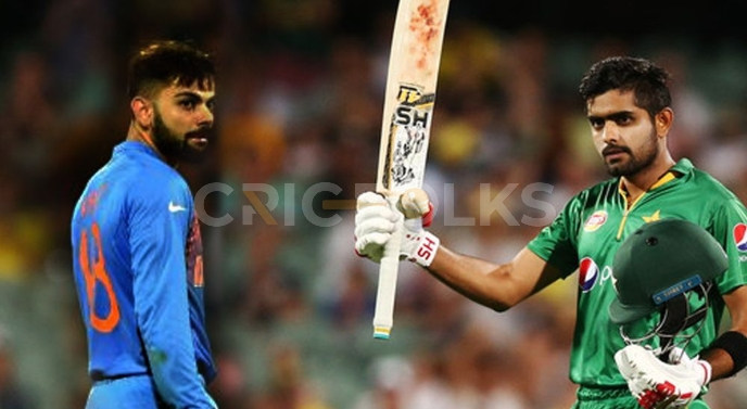 Pakistan's Babar Azam and India's Virat Kohli portrayed during a match