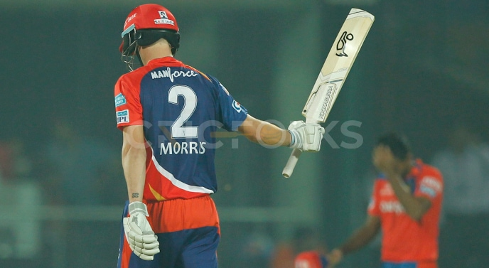 Morris maintains an SR of 157.87 with two fifties, including 39 fours and 30 sixes