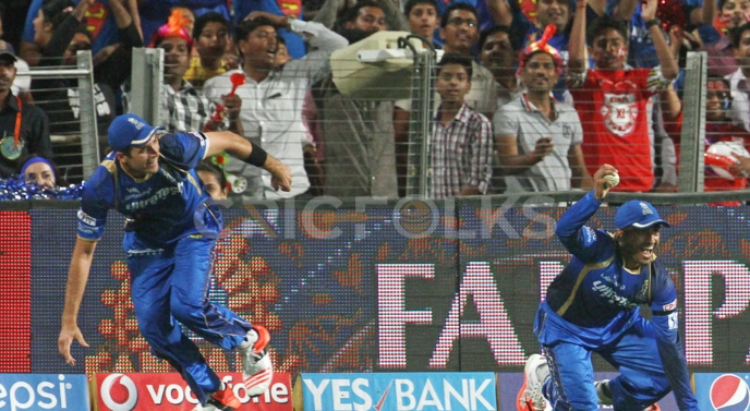 IPL 2015: Tim Southee and Karun Nair's relay catch vs Kings XI Punjab is known among the best catches in cricket history